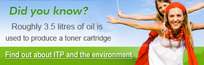 Did you know: Roughly 3.5 litres of oil is used to produce a toner cartridge?